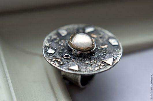 Кольца ручной работы. Ярмарка Мастеров - ручная работа. Купить Кольцо серебро MAGIC: серебро, золото, винный топаз. Handmade.