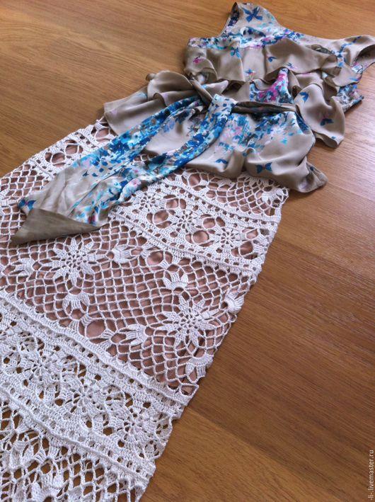 Юбки ручной работы. Ярмарка Мастеров - ручная работа. Купить Длинная летняя юбка связанная крючком Летняя Сага. Handmade.