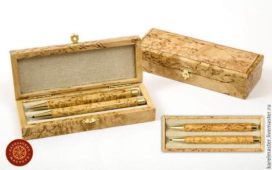 Подарочные наборы ручной работы. Ярмарка Мастеров - ручная работа. Купить Набор подарочный (ручка + карандаш) в футляре. Handmade.
