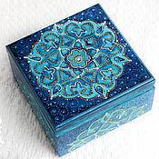 Для дома и интерьера handmade. Livemaster - original item Box decoupage blue. Wood. point-to-point . For jewelry.. Handmade.