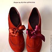 """Обувь ручной работы. Ярмарка Мастеров - ручная работа Туфли""""Ажурная Весна"""")). Handmade."""