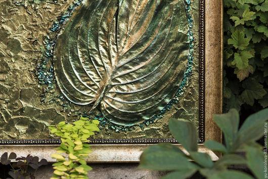 """Картины цветов ручной работы. Ярмарка Мастеров - ручная работа. Купить Картина-панно """"Энергия природы"""". Handmade. Зеленый"""