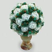 handmade. Livemaster - original item Flowers from malachite