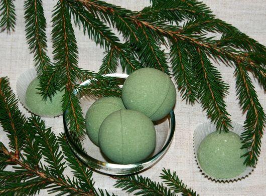 """Бомбы для ванны ручной работы. Ярмарка Мастеров - ручная работа. Купить Бурлящие шарики для ванны """"Хвойный дух"""". Handmade."""