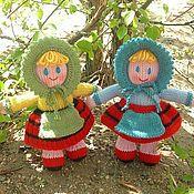Куклы и игрушки ручной работы. Ярмарка Мастеров - ручная работа Вязаные куклы из шерсти Девчушки. Handmade.