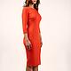 Платья ручной работы. Заказать Платье. San Sarafan. Ярмарка Мастеров. Оранжевый цвет, джерси, дизайнерская одежда