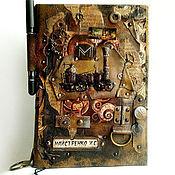 Сувениры и подарки ручной работы. Ярмарка Мастеров - ручная работа Кожаный мужской блокнот стимпанк подарок мужчине. Handmade.
