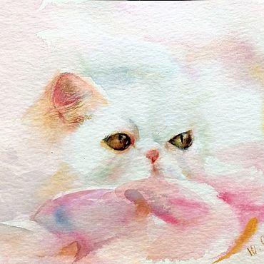 Картины и панно ручной работы. Ярмарка Мастеров - ручная работа Гламурная кошка. Handmade.