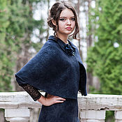 Одежда handmade. Livemaster - original item Felted dress and Cape