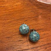 Винтаж handmade. Livemaster - original item Clip-On Earrings Turquoise, Germany. Handmade.