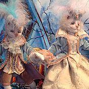 Куклы и игрушки ручной работы. Ярмарка Мастеров - ручная работа Парное катание ( кошки на коньках). Handmade.