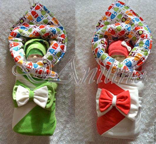Для новорожденных, ручной работы. Ярмарка Мастеров - ручная работа. Купить Комплект на выписку для двойняшек. Handmade. Близнецы, комплект для малыша