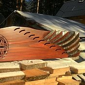 "Музыкальные инструменты handmade. Livemaster - original item Copy of Tradition folk  Russian  Gusli. ""Blue Bird"" (Kantele, kankles). Handmade."