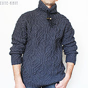 Одежда handmade. Livemaster - original item SWEATER MEN`S GRAY. Handmade.