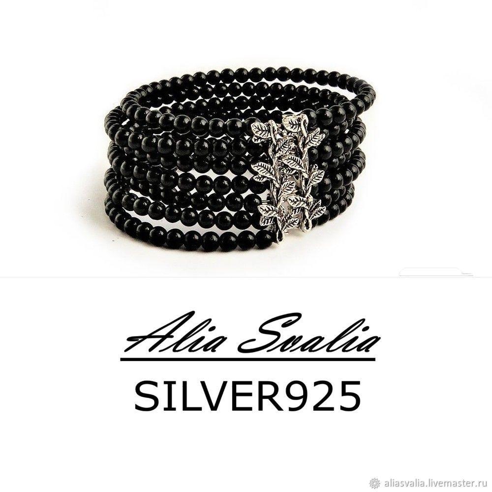 "Bracelet ""Black Seven"". Agate, Bead bracelet, Kaliningrad,  Фото №1"