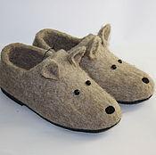 Обувь ручной работы. Ярмарка Мастеров - ручная работа Тапочки валяные - Мышата. Handmade.