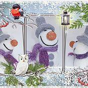 Куклы и игрушки ручной работы. Ярмарка Мастеров - ручная работа Снеговик. Handmade.