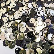 Пайетки ручной работы. Ярмарка Мастеров - ручная работа Пайетки: 5 мм двусторонние (1708). Handmade.