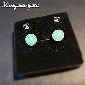 Украшения handmade. Livemaster - original item Stud earrings silver