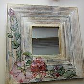 """Для дома и интерьера ручной работы. Ярмарка Мастеров - ручная работа Зеркало """"Розы"""". Handmade."""