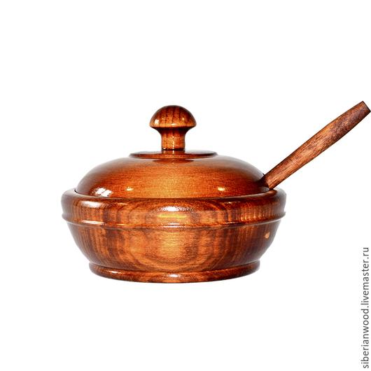 Кухня ручной работы. Ярмарка Мастеров - ручная работа. Купить Кубышка с крышкой из натурального Кедра + Дризл Для пищевых прод KD2. Handmade.