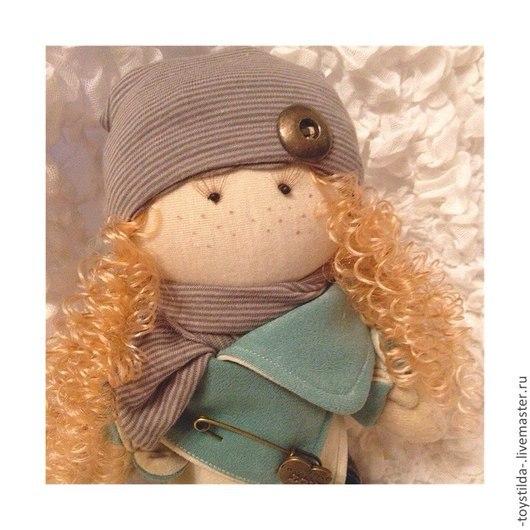Куклы тыквоголовки ручной работы. Ярмарка Мастеров - ручная работа. Купить Стилялечка Женечка. Handmade. Морская волна, кукла интерьерная