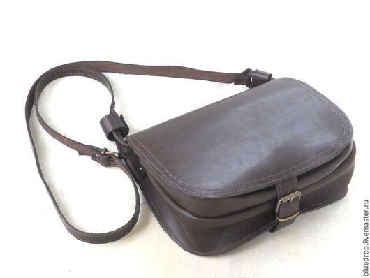 Женские сумки ручной работы. Ярмарка Мастеров - ручная работа. Купить Женская кожаная сумка через плечо на пряжке - разные цвета кожи. Handmade.