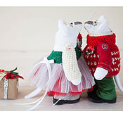 Куклы и игрушки ручной работы. Ярмарка Мастеров - ручная работа Рождественские мышки. Handmade.