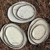 """Посуда ручной работы. Ярмарка Мастеров - ручная работа Комплект блюд """"Перепелиное гнездо"""". Handmade."""