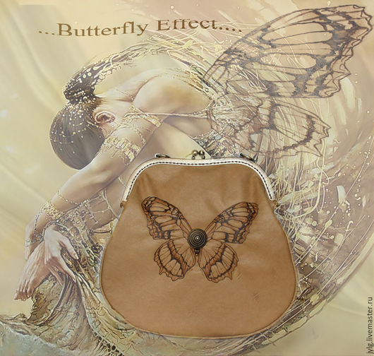 """Женские сумки ручной работы. Ярмарка Мастеров - ручная работа. Купить Сумочка """"Butterfly Effect"""". Handmade. Кожаная сумка, эффект"""