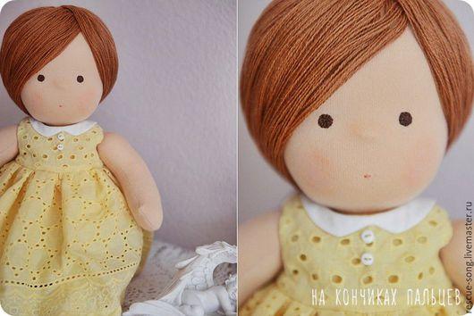Коллекционные куклы ручной работы. Ярмарка Мастеров - ручная работа. Купить Куколка игровая. Handmade. Комбинированный, текстильная кукла