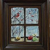 Картины и панно ручной работы. Ярмарка Мастеров - ручная работа Снегири. Handmade.