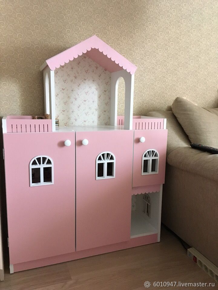 Кукольный дом ручной работы. Ярмарка Мастеров - ручная работа. Купить Кукольный домик - стеллаж. Handmade. Подарок девочке