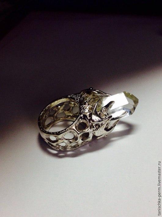 Кольца ручной работы. Ярмарка Мастеров - ручная работа. Купить кольцо с алмазом херкимера. Handmade. Серебряный
