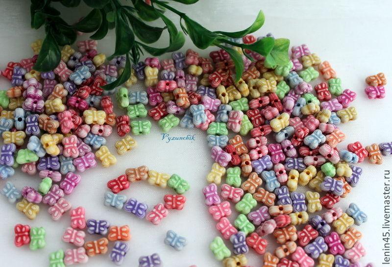 Бусины детские бабочки, Бусины, Стерлитамак, Фото №1