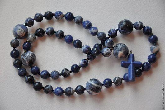 """Четки ручной работы. Ярмарка Мастеров - ручная работа. Купить Четки """"Синева"""" из Содалита. Handmade. Синий, синий цвет, четки"""