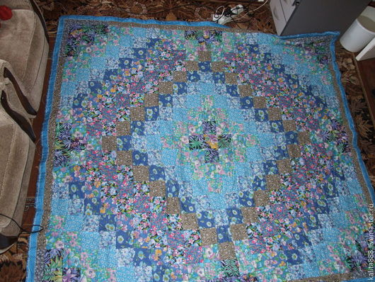 Текстиль, ковры ручной работы. Ярмарка Мастеров - ручная работа. Купить Лоскутное одеяло с подушками. Handmade. Лоскутное одеяло, голубой