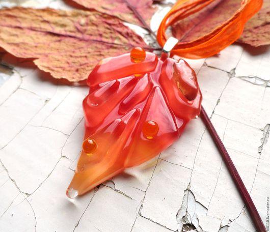 """Кулоны, подвески ручной работы. Ярмарка Мастеров - ручная работа. Купить Кулон """"Привет от Осени"""". Handmade. Фьюзинг, украшения из стекла"""