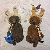 Куклы и игрушки ручной работы. Ярмарка Мастеров - ручная работа Шоколадные зайчики. Handmade.