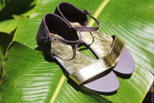 Обувь ручной работы. Ярмарка Мастеров - ручная работа. Купить Сандалии из натуральной кожи Anne. Handmade. Серый, туфли из кожи