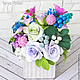 """Интерьерные композиции ручной работы. Ярмарка Мастеров - ручная работа. Купить Нежный букет цветов в вазе """"Розовая лазурь"""". Handmade."""