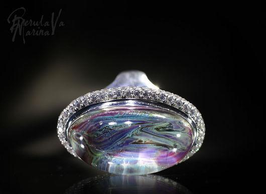 """Кольца ручной работы. Ярмарка Мастеров - ручная работа. Купить Кольцо """"Таинственный мираж"""". Handmade. Кольцо лэмпворк, тайна, розовый"""