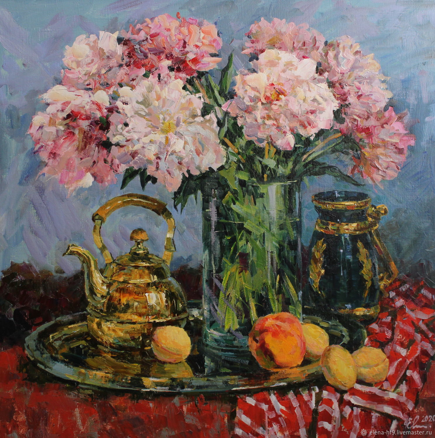 A painting. Peonies and fruits, Pictures, St. Petersburg,  Фото №1