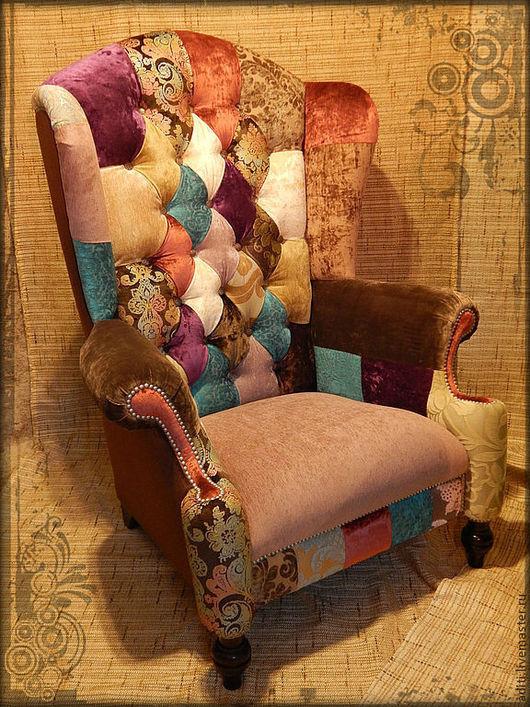 Мебель ручной работы. Ярмарка Мастеров - ручная работа. Купить КРЕСЛО КАМИННОЕ  ВИНТАЖ 1. Handmade. Мебель пэчворк