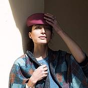 """Аксессуары ручной работы. Ярмарка Мастеров - ручная работа Фетровая кепка, бордовая """"Джейми"""". Handmade."""
