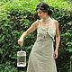 Платье ручной работы `Незнакомка` от студии винтажного платья `Винтажное путешествие`, материал - неотбеленный вологодский лен