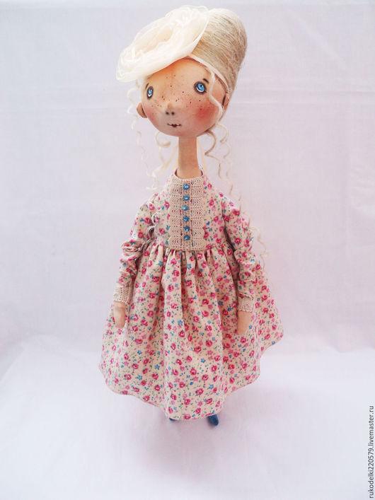 Куклы тыквоголовки ручной работы. Ярмарка Мастеров - ручная работа. Купить Текстильная кукла Олечка!. Handmade. Бежевый, кукла из ткани