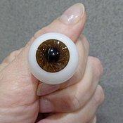 Глаза и ресницы ручной работы. Ярмарка Мастеров - ручная работа Глаза для кукол стекло Лауша .Размер 14 и 12мм мм.Разные цвета. Handmade.