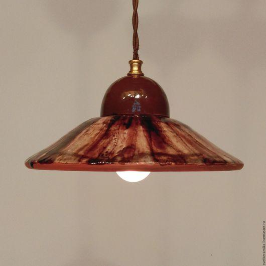 Освещение ручной работы. Ярмарка Мастеров - ручная работа. Купить Керамический светильник в шоколадной глазури «Ром-баба». Handmade. латунь
