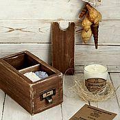 """Косметика ручной работы. Ярмарка Мастеров - ручная работа Морская коробочка """"Sea"""" (свеча и мыло). Handmade."""